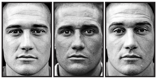 """Emiel, age 26. From the series """"Here are the Young Men (Marked)"""" © Claire Felicie"""