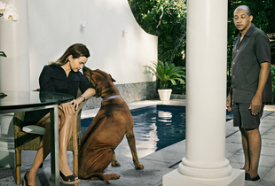 Adriana, dog and Eduardo. From the series Domésticas, 2007 © Andrej Balco