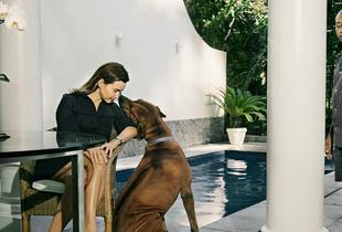 Adriana, dog and Eduardo. From the series Domésticas, 2007 © Andrej Balco