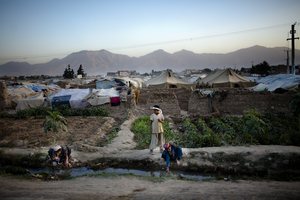 Charhi Qhambar, an IDP camp on the edge of Kabul. Most of the IDPs here are from Kandahar and Helmand provinces. © Michael Christopher Brown