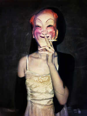 Vintage Masks, spontaneous iPhone series © Vee Speers