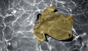 """From the series Drifting Away, printed glass, 60x35,2""""  © Erika Diettes"""