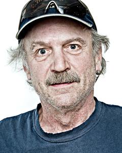 "Dan M., handyman. From the Series ""Everyone My Brother Knows in Girdwood, Alaska"" © Laura Domela"