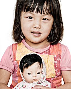 "Lilly F., student, originally from China. From the Series ""Everyone My Brother Knows in Girdwood, Alaska"" © Laura Domela"