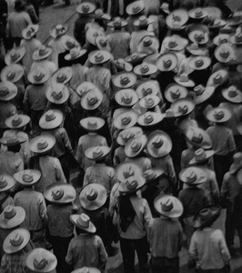 © Tina Modotti, Workers' Parade, 1926. Platinum print. Courtesy of Throckmorton Fine Art, New York.
