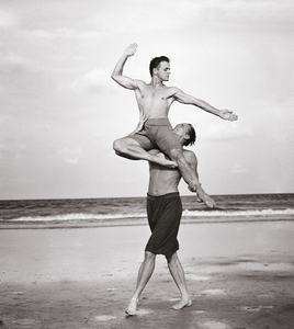 "Mikhail Baryshnikov and Rob Besserer, Cumberland Island, Georgia, 1990 © Annie Leibovitz, from ""Annie Leibovitz: A Photographers Life 1990  2005"""
