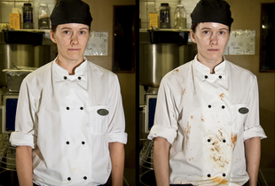 Annika, chef - 1600 and 0000. From the series Women at Work, 2009 © Joel Gräfnings
