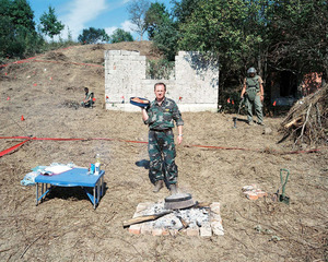 Army Cooks, Croatia, 2007 © Martin Kollar. If we happen to stray into a minefield while catching a calf, we keep a safe distance and follow in its footsteps until it returns to the paved street. In that moment we catch the calf, lead it into the stockade, kill and cut in pieces.