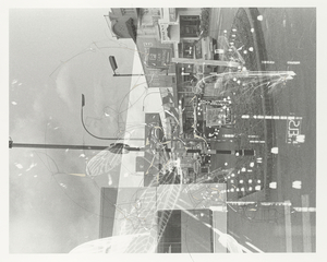 """""""Traceryscape - NZ221"""", painting on gelatin-silver print, 108x127cm, from the series Traceryscape © Aki Lumi"""