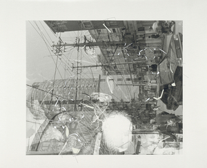 """""""Traceryscape - SH521"""", painting on gelatin-silver print, 50x60cm, from the series Traceryscape © Aki Lumi"""