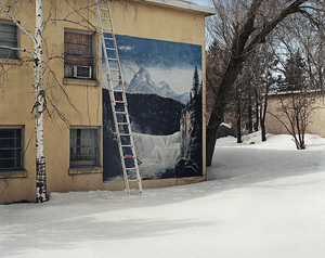 Ladder in Snow, St. Anthony Idaho © Alexis Pike