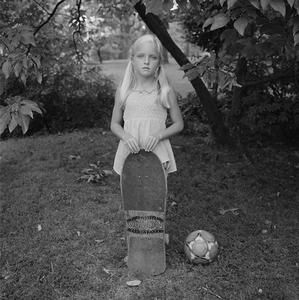 Abby with Skateboard © Donna Pinckley