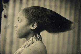 Hair, 8` x 10` Tintype © by David Prifti