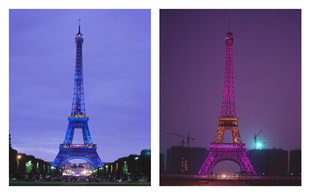 "From the series ""The eiffel tower(s)"" Paris, France / Hangzhou, China"