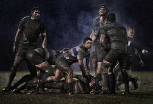2nd prize Sports Singles: © Ray McManus, Ireland, Sportsfile. Scrum half, Old Belvedere vs. Blackrock, Dublin, Ireland, 5 February. Action from a rugby match between Old Belvedere and Blackrock played in heavy rain in Dublin, Ireland.