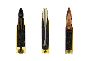 "Ammunition cross-sections from the series ""AMMO"" © Sabine Pearlman"