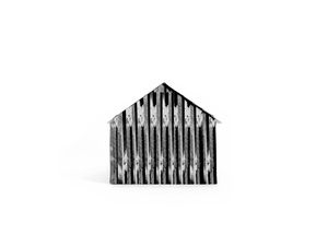 House without windows, home of sharecropper cut-over farmers of Mississippi Bottoms, Missouri, from the series Resettlement © Julia Curtin