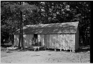 House without windows, home of sharecropper cut-over farmers of Mississippi bottoms, Missouri © Russell Lee, May 1938