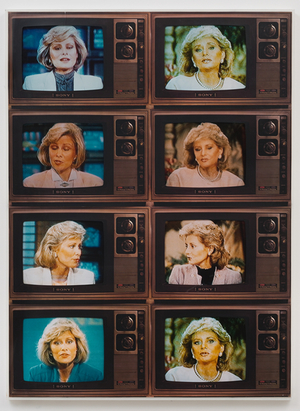 © Robert Heinecken, T.V. Network Newswomen Corresponding: Barbara Walters/Faith Daniels, 1986. Marc Selwyn