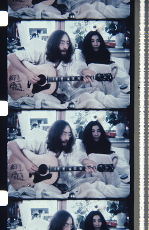 © Jonas Mekas, Lennons, during the Bed-In in Montreal, May 26, 1969. Deborah Colton