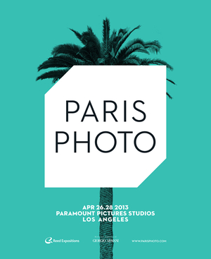 Paris Photo Los Angeles 2013 Poster (Ed Ruscha photo blocked out by a logo)