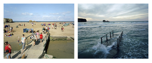 Perranporth, Cornwall. 29 and 30 August 2007. Low water 12 noon, high water 8 pm, from the series Sea Change © Michael Marten. Grand Prize Winner, Portfolio Category, Lens Culture International Exposure Awards 2011