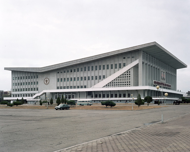 Pyongyang's indoor stadium which is used for large political meetings and sporting events. © Maxime Delvaux