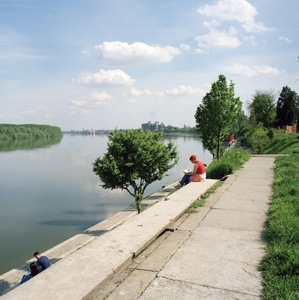 The river Danube at Vukovar, marking the border between Croatia and Serbia. The town was held under a 3-month siege in 1991 by Serbian artillery positioned across the river.  © Colin Dutton