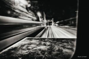 passenger train drive-by © Christos Tolis
