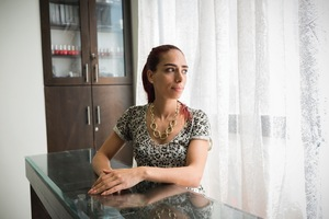 Ronza Asfour is the owner of Express Nails, a beauty salon in Ramallah. Ronza is a qualified teacher but her passions are beauty and business. She was determined to open her own salon and attended numerous training courses to be able to offer professional treatments ranging from massages to pedicures, manicures and more.© David Brunetti
