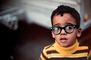Boy with Big Glasses, New York, NY, 1981 © Robert Herman