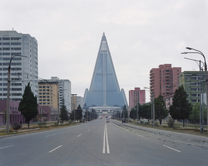 The Ryugyong Hotel with a height of 330 meters, is by far the largest structure in North Korea. The construction began in 1987 and is still ongoing. © Maxime Delvaux