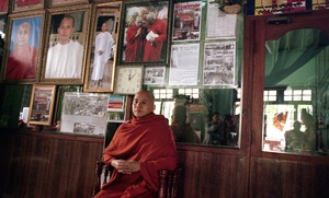 Mandalay, Myanmar, 2013. Ashin Wirathu, the figurehead of the Buddhist 969 movement. In 2011 Wirathu was released from prison, after serving seven years for inciting violence against Muslims. © Spike Johnson
