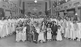"Bishop C. M. ""Sweet Daddy"" Grace and his congregation of the United House of Prayer for All People, c.1930s Courtesy of the Archives Center, National Museum of American History, Smithsonian Institution © scurlock"