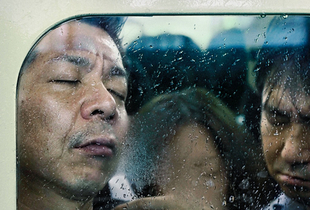 """From the book and series, """"Tokyo Compression"""" © Michael Wolf"""