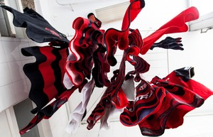 The team uniform of Flamengo, Brazil's most popular football club, hang to dry in Rio de Janeiro. © Bel Pedrosa