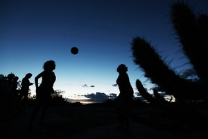 A women's soccer game in the vilage of Salgueiro, Pernambuco in the northeast region of Brazil. © Ana Araujo