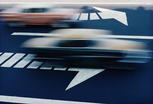 Traffic.© Ernst Haas, 1970's.