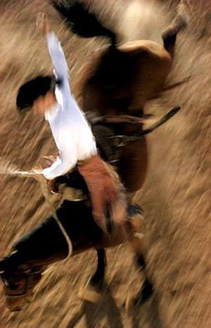 Bronco Rider. © Ernst Haas, 1957.
