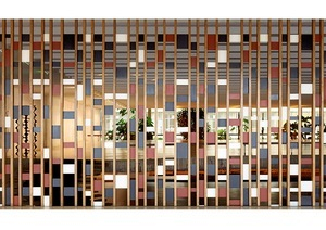 The Itamaraty Palace - Foreing Relations Ministry, wood and steel panel by Athos Bulcão, Brasília, 2012.