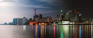 Night & Day - Toronto Skyline - © Andrew Prokos - http://andrewprokos.com