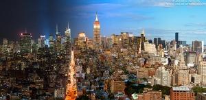 Night & Day - Manhattan Cityscape - © Andrew Prokos - http://andrewprokos.com