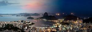 Night & Day - Botafogo Cityscape, Rio de Janeiro - © Andrew Prokos - http://andrewprokos.com