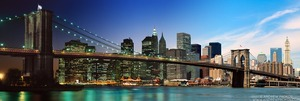 Night & Day - Brooklyn Bridge and Lower Manhattan #1 - © Andrew Prokos - http://andrewprokos.com