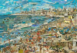 """Beach, from the series """"Postcards from Nowhere"""" © Vik Muniz, courtesy of Xippas Galleries"""