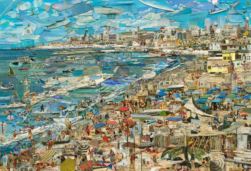 "Beach, from the series ""Postcards from Nowhere"" © Vik Muniz, courtesy of Xippas Galleries"