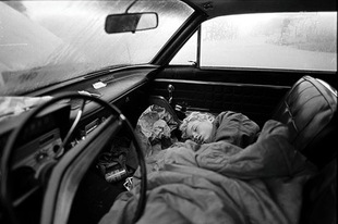 Asleep in Car