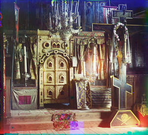 "Iconostasis in the Church of Saint John the Theologian in Rostov Velikii, Russia, 1911 © Sergei Mikhailovich Prokudin-Gorskii, from the book ""Nostalgia"". Images courtesy US Library of Congress and Gestalten publishers, Berlin."