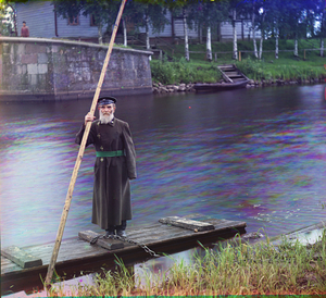 "Pinkus Karlinskii: Eighty-Four Years Old, Sixty-Six Years of Service as Supervisor of the Chernigov Floodgate, Russia, 1909 © Sergei Mikhailovich Prokudin-Gorskii, from the book ""Nostalgia"". Images courtesy US Library of Congress and Gestalten publishers, Berlin."