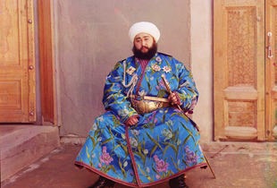 """Emir of Bukhara, 1911© Sergei Mikhailovich Prokudin-Gorskii, from the book """"Nostalgia"""". Images courtesy US Library of Congress and Gestalten publishers, Berlin."""